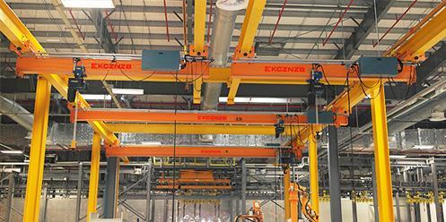 爱豪起重机成功为贺德克液压量身定制好品质立柱式悬臂吊