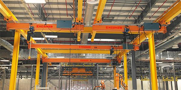 凯澄起重机成功为贺德克液压量身定制好品质立柱式悬臂吊
