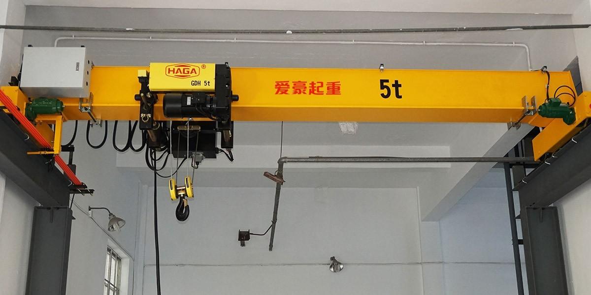 爱豪智能为上海电力环保设备提供电动单梁起重机一台